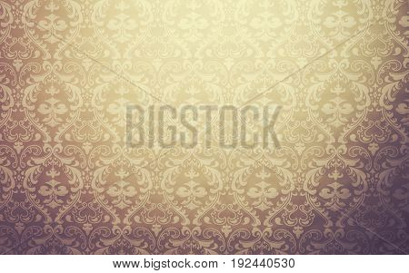 Brown colored mediterranean geometric traditional lattice pattern background