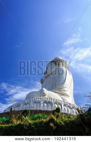 Big Buddha Under Construction With Scaffolds In Phuket, Thailand