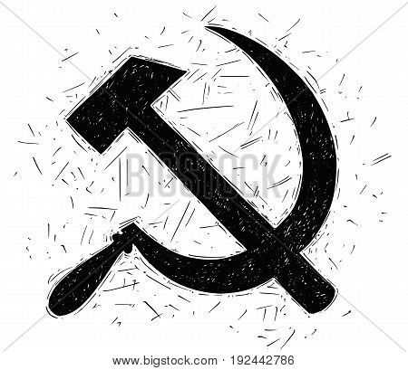 Hammer and sickle - symbol of communism and Soviet Union
