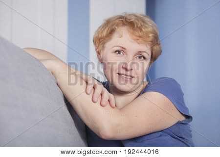 Middle Aged Blond Woman