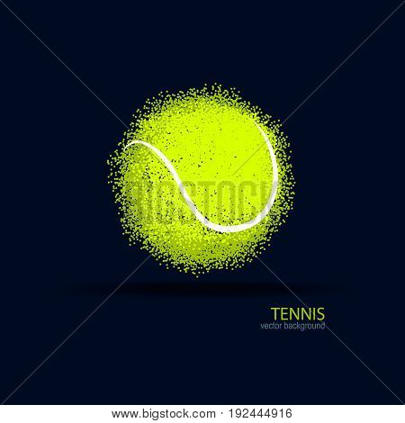 Tennis abstract ball design element for a sports banner poster.