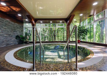 Big luxury jacuzzi tub