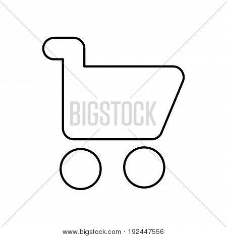Shopping cart icon vector isolated on white background. Symbol for web or app design.