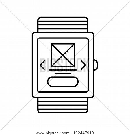 Smartwatch line icon for web or app design.
