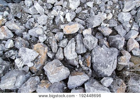 Large granite stones on nature as background .