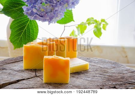 Homemade Orange And Dandelion Herbal Soap