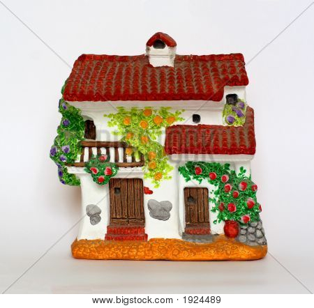Pottery Red Tiled House