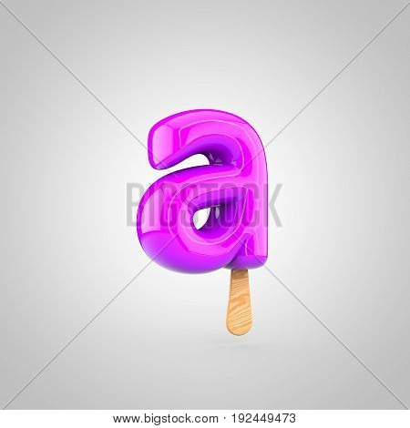 Ice Cream Letter A Lowercase Isolated On White Background