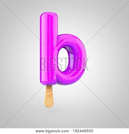 Ice Cream Letter B Lowercase Isolated On White Background
