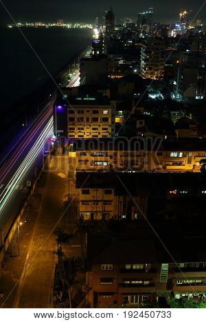 Sri Lanka's capital - Colombo skyline at night