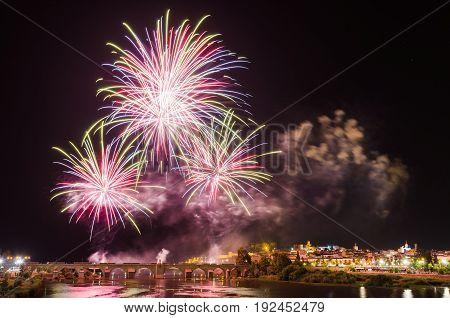 San Juan Fireworks 2017 Badajoz Extremadura Spain