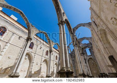 Carmo Convent In Lisbon, Portugal