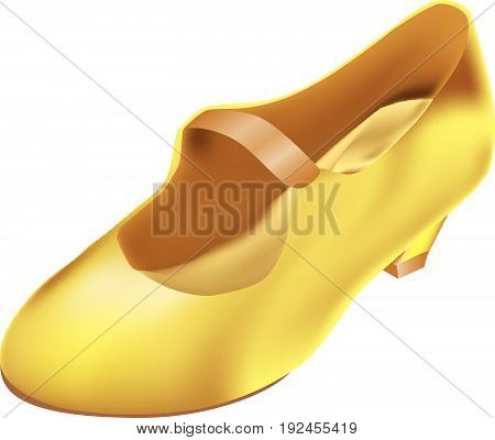 Classical shoe of Cinderella on a small heel. poster