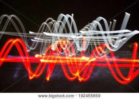 Blur image abstract background of light line.