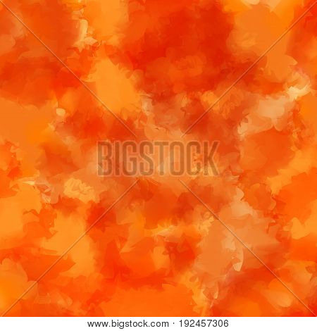 Orange Watercolor Texture Background. Cute Abstract Orange Watercolor Texture Pattern. Expressive Me