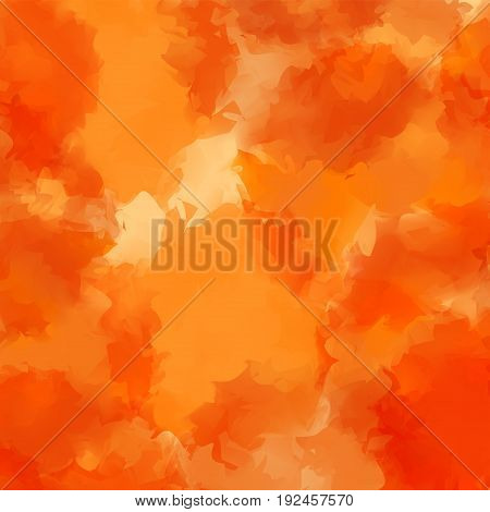 Orange Watercolor Texture Background. Cool Abstract Orange Watercolor Texture Pattern. Expressive Me