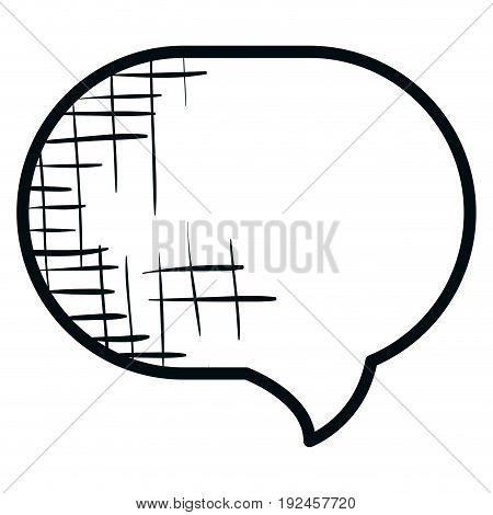 speech buccle message icon vector illustration design graphic