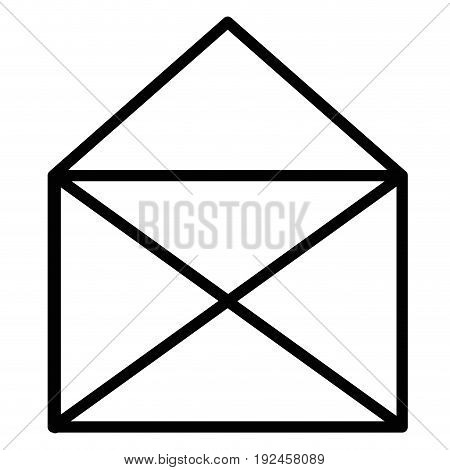 envelope mail isolated icon vector illustration design draw