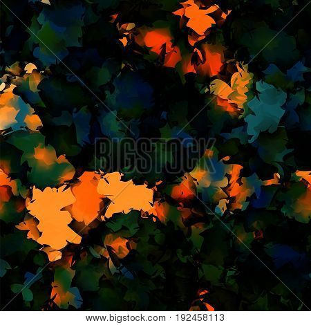Orange Green Blue Watercolor Texture Background. Gorgeous Abstract Orange Green Blue Watercolor Text
