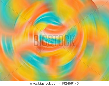 Abstract gradient motion blur background with soft pastel color tones green blue orange yellow pink.