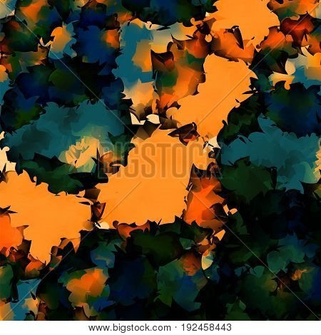 Orange Green Blue Watercolor Texture Background. Lovely Abstract Orange Green Blue Watercolor Textur