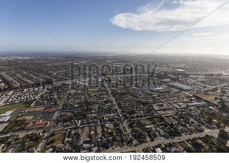 Aerial view of Oxnard and Ventura in Southern California.