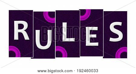 Rules text written over purple pink background.