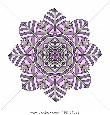 Flower Mandalas. Vintage Decorative Elements. Oriental Pattern, Vector Illustration. Islam, Arabic,