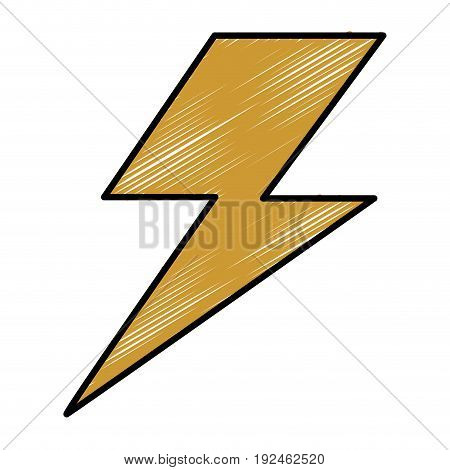 Thunder weather flat icon vector illustration design graphic