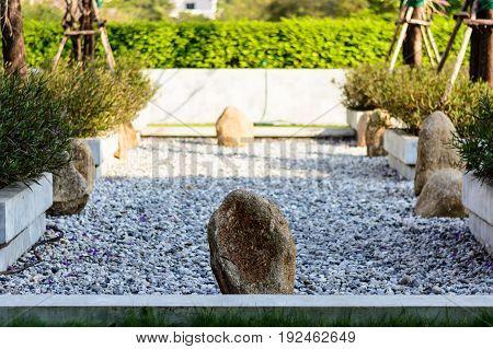 Rock garden at a meditation center in Thailand.