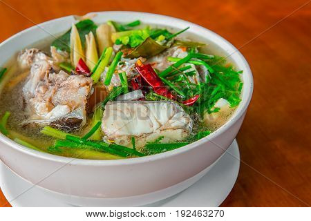 Spicy Fish soup hot soup of ThailandTom yum