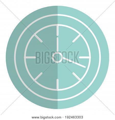wall clock object icon vector illustration design image