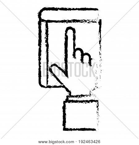 touch point hand icon vector illustration design doodle