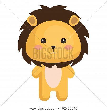 Stuffed animal lion icon vector illustration design graphic