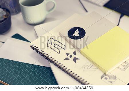 Notebook With Brand Logo Creative Design Ideas