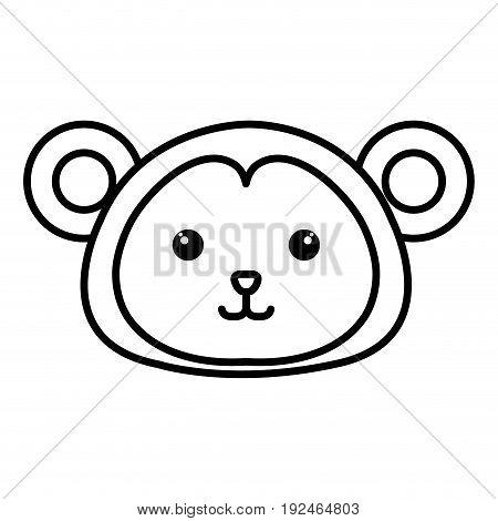 Stuffed animal monkey icon vector illsutration design image