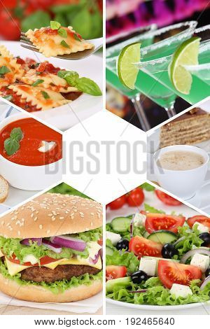 Food And Drink Collection Collage Beverages Drinks Meal Meals Restaurant Group Menu