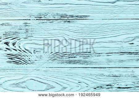 close-up texture larch wood. cyan or turquoise color countertop or background