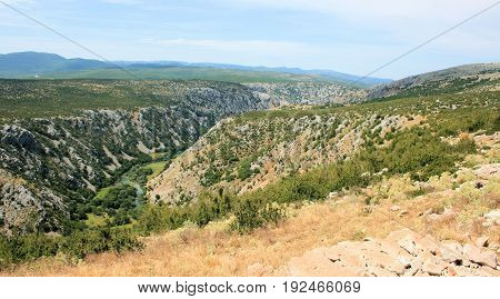 valley of the river Krupa in Croatia