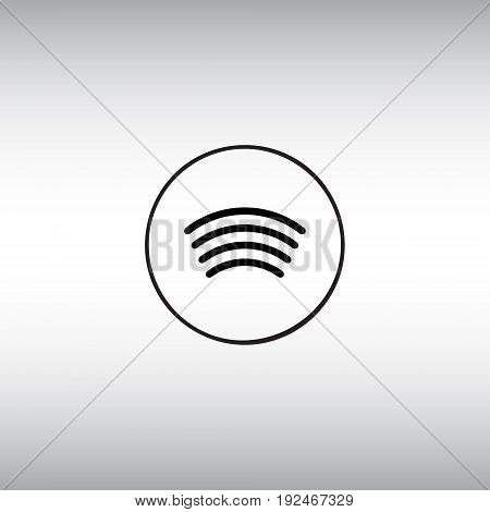 Contactless payment technology isolated vector sign. Pay wave flat vector icon. Tap to pay vector image.