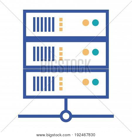 Data base information icon vector illustration design graphic