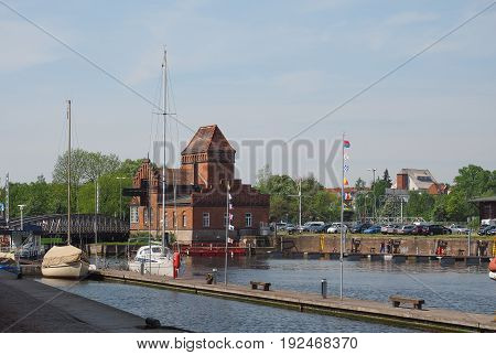 Hansahafen Harbour In Luebeck