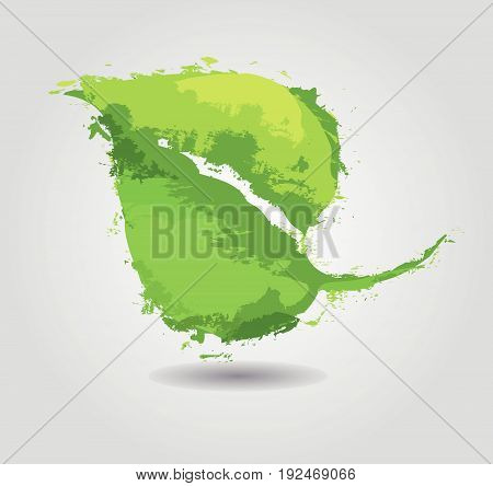 Green eco friendly background abstract leave. Eco illustration.