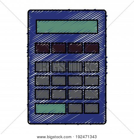 Mathematical element calculator icon vector illustration design doodle