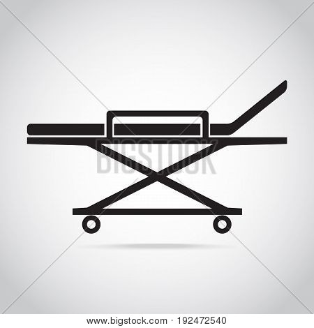 Stretcher medical icon medical concept vector illustration