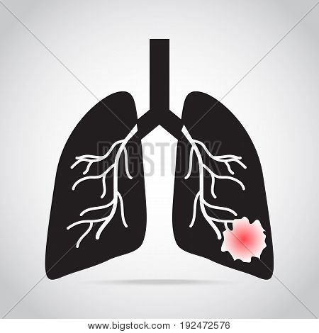 lung cancer icon medical concept vector illustration