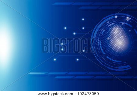 abstract hitech blue technology background vector, illustration