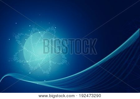 abstract blue hitech technology background, vector, illustration