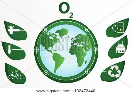 paper art ecology world environment earth green white water,vector