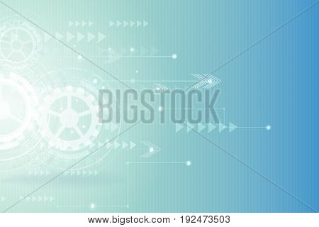 Digital hitech technology with gearwheel and Geometric network lines backgroundvector